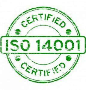 Certificado medioambiental ISO 14001