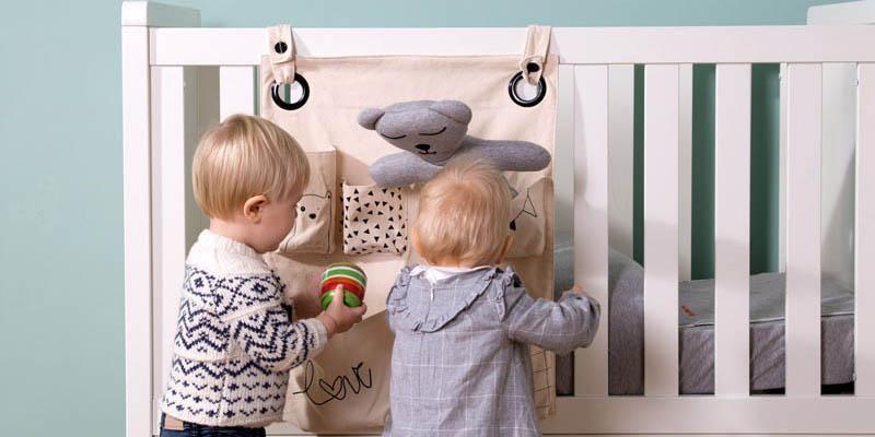 Decoración infantil con el organizador para pañales y juguetes