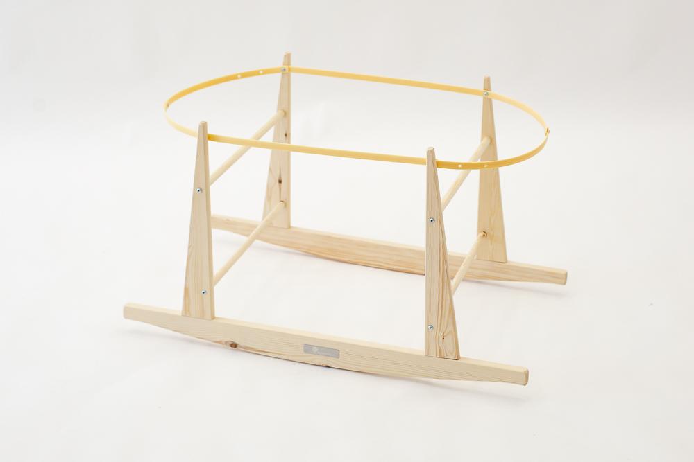 Estructura balancín madera natural del moisés